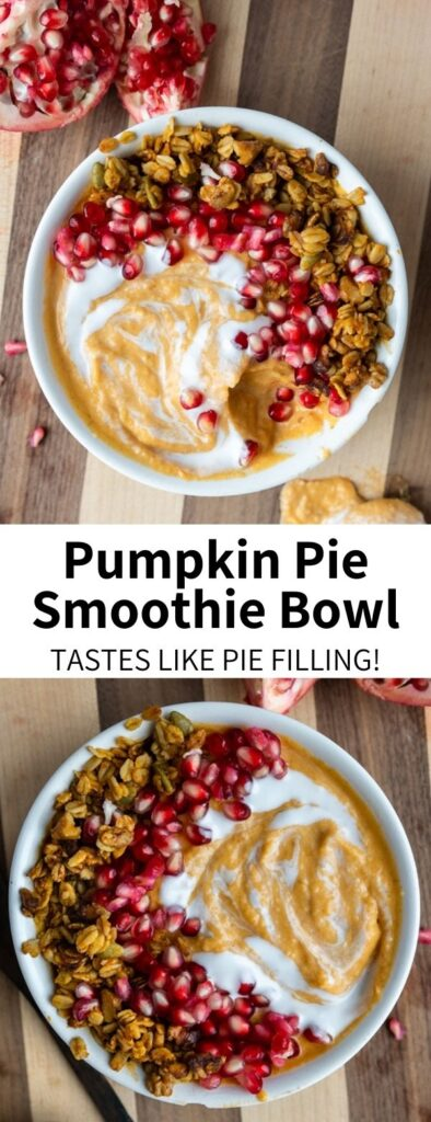 This vegan pumpkin pie smoothie is everything you could want in a fall treat! Healthy and easy to make, this delicious recipe is gluten-free, dairy-free, and simply the BEST. Perfect for a midday treat or dessert, it tastes just like pumpkin pie!