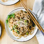 asian noodles with ginger sauce
