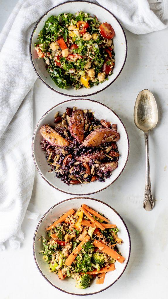 mixed quinoa bowls