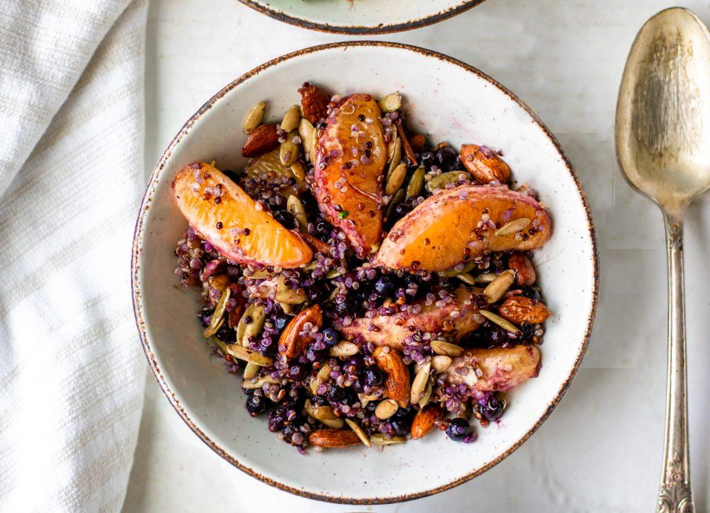 quinoa fruit salad with oranges