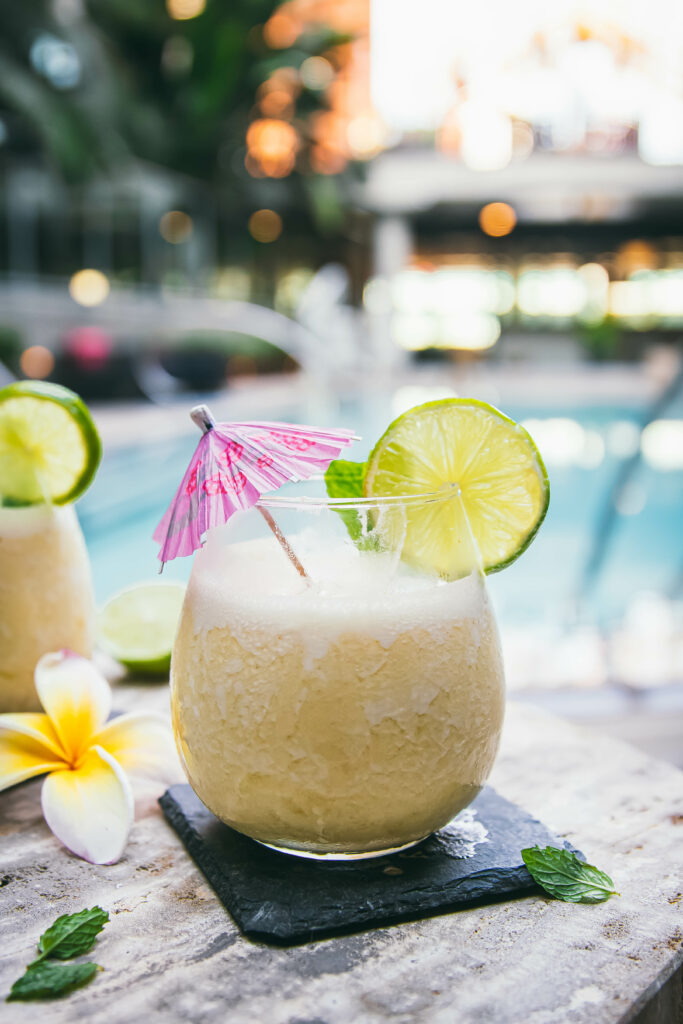 If you like piña coladas...you're going to love such a simple preparation! This piña colada recipe with coconut milk, lime juice, pineapple and rum evokes classic beach-y flavors that are SO refreshing. Ready in just 10 minutes with four ingredients!
