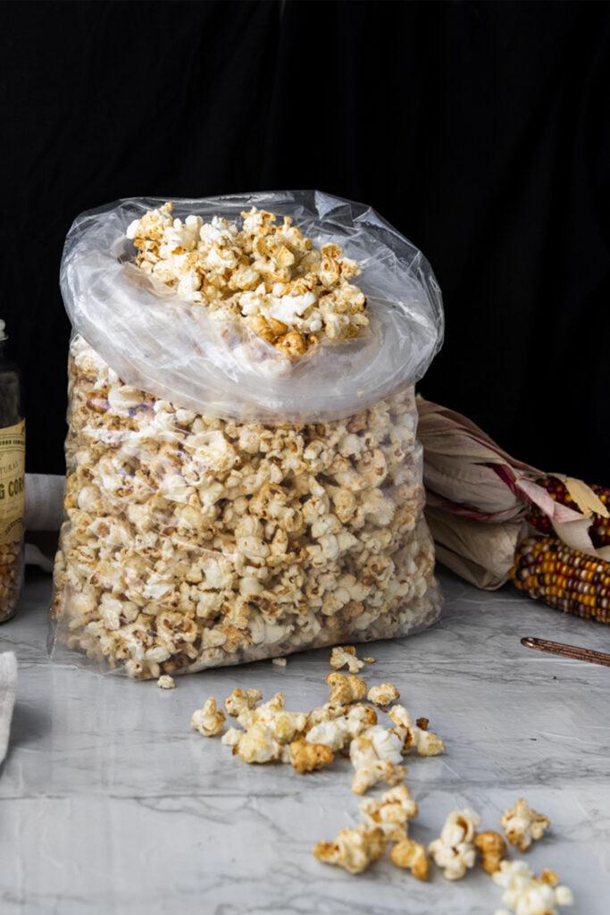 bag of carnival style kettle corn