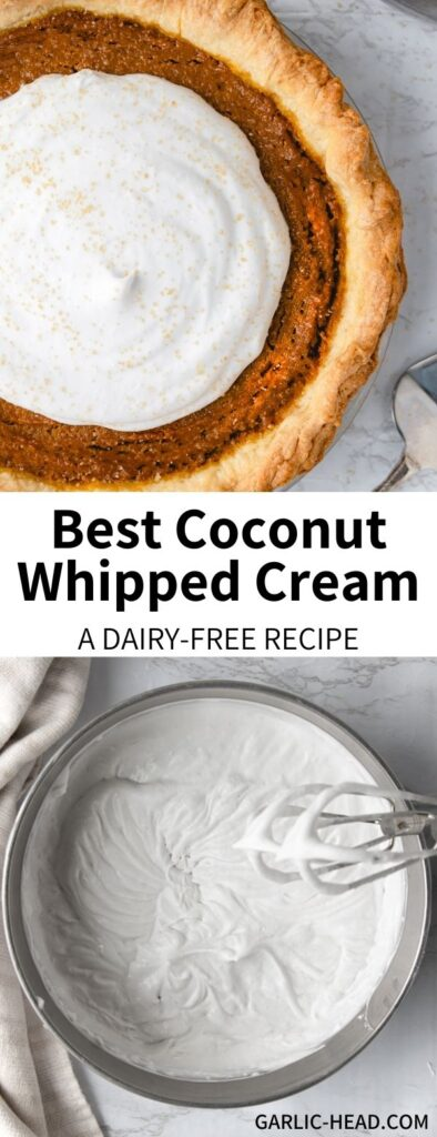 long pin for coconut whipped cream