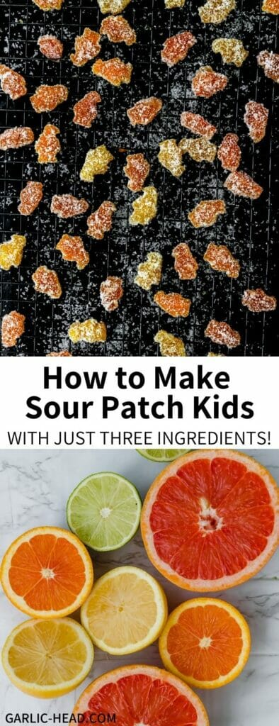 These 3-Ingredient Sour Patch Kids taste JUST like the original, and are shockingly easy to make! Try them for your own version of homemade chewy sour candy. They're a healthy and fun sweet treat.