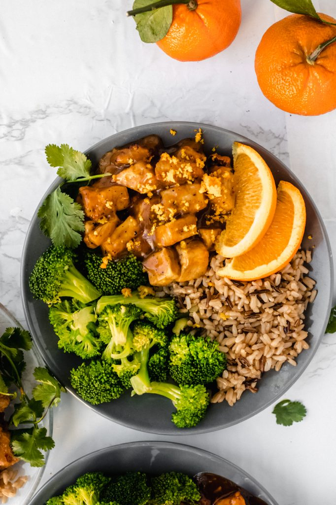 Look forward to lunch with these three healthy ideas for tofu meal prep! Served with brown rice and broccoli, these easy recipes are customizable and totally vegan.
